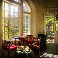 Cronici Cafenele din Romania - Dianei 4 - spatiul social si cultural cu o noua terasa cocheta si incarcata de flori (P)
