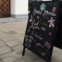 Cronici Cafenele din Bucuresti, Romania - Cum arata Cafeneaua Starbucks de la Hanul lui Manuc din Bucuresti