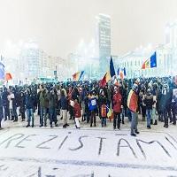 La zi pe Metropotam - #rezistam, 8 februarie 2017 - cum s-a vazut protestul de la Victoriei pe ninsoare si zapada