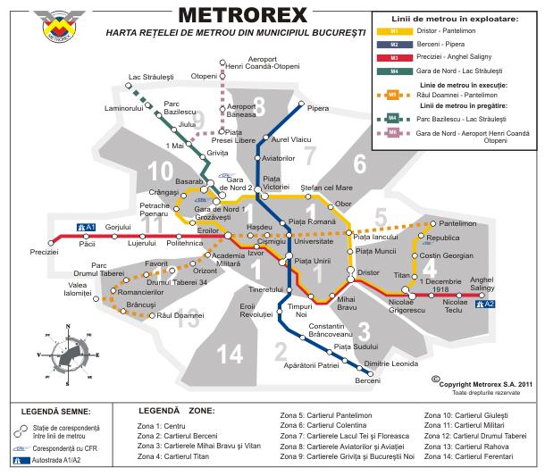 harta metrou